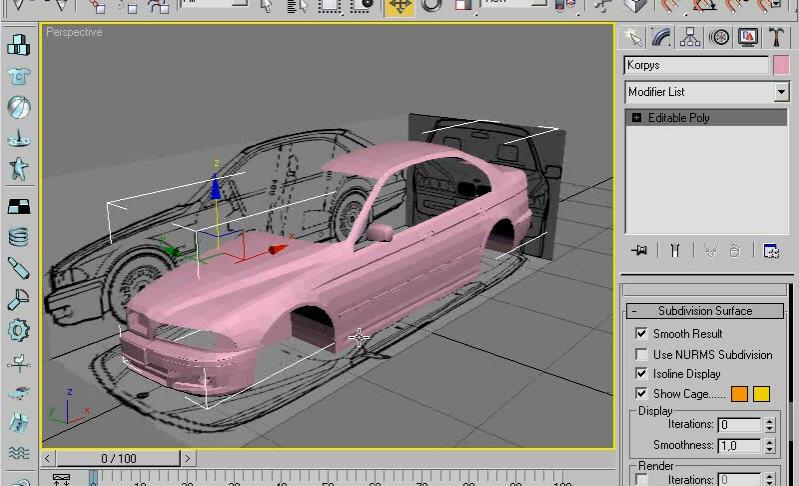Как создать модель автомобиля в 3d max - Eztrends.ru
